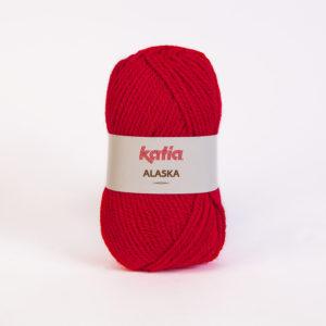 ALASKA N°04 de KATIA pelote de 100 g coloris Rouge Vif