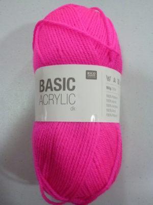 BASIC ACRYLIC DK de RICO DESIGN coloris 05 fuchsia