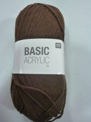 BASIC ACRYLIC DK de RICO DESIGN coloris 13 marron