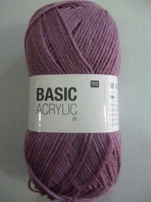 BASIC ACRYLIC DK de RICO DESIGN coloris 23 mauve