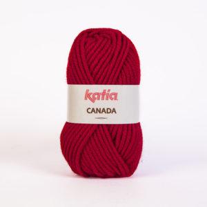 CANADA N°21 de KATIA pelote de 100 g coloris Rouge Moyen