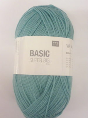 BASIC SUPER BIG de RICO DESIGN coloris Menthe pelote de 400 g