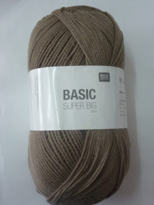 BASIC SUPER BIG de RICO DESIGN coloris taupe pelote de 400 g