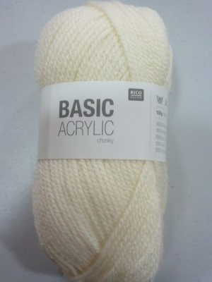 BASIC ACRYLIC chunky N° 02 de RICO DESIGN coloris écru