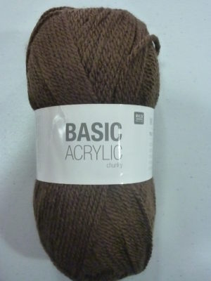 BASIC ACRYLIC chunky N° 09 de RICO DESIGN coloris marron