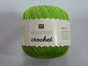 Coton Essentials Crochet N° 09 de RICO DESIGN coloris vert clair