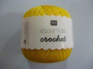 Coton Essentials Crochet N° 13 de RICO DESIGN coloris jaune