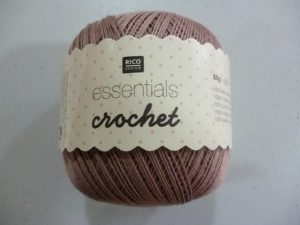 Coton Essentials Crochet N° 16 de RICO DESIGN coloris vieux rose
