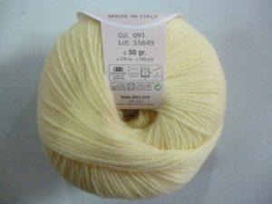 100% Baby N°91 de D.M.C coloris jaune pâle