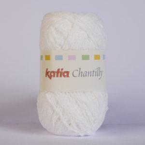 CHANTILLY N°01 de KATIA pelote de 50 g coloris Blanc
