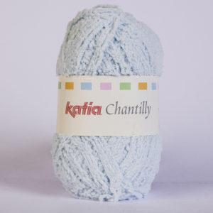 CHANTILLY N°34 de KATIA pelote de 50 g coloris Bleu Ciel