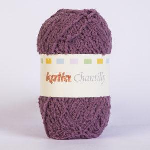 CHANTILLY N°71 de KATIA pelote de 50 g coloris Prune