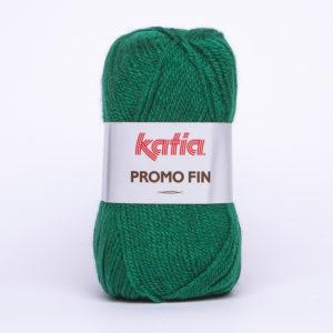 PROMO-FIN N°162 de KATIA pelote 50 g coloris Vert Bécassine