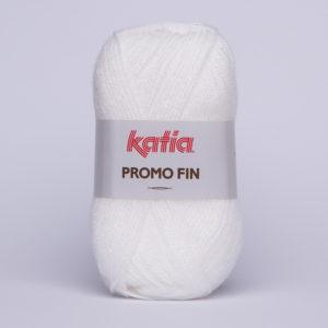PROMO-FIN N°501 de KATIA pelote 50 g coloris Blanc