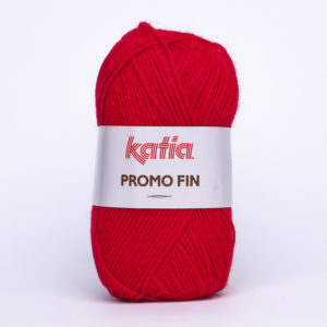 PROMO-FIN N°810 de KATIA pelote de 50 g coloris Rouge