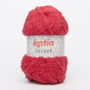 VELOUR N°53 de KATIA pelote de 50 g coloris Rouge