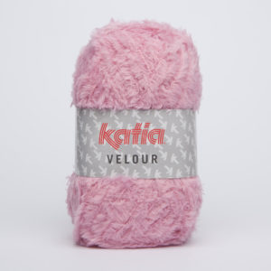 VELOUR N°61 de KATIA pelote de 50 g coloris Rose