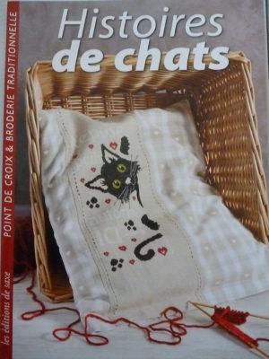 Livre «Histoires de Chats» Au Point de Croix Aux Éditions de Saxe