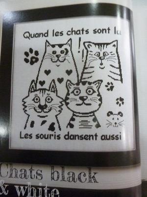 Livre «Brodez-moi Chat» Au Point de Croix Aux Éditions de Saxe