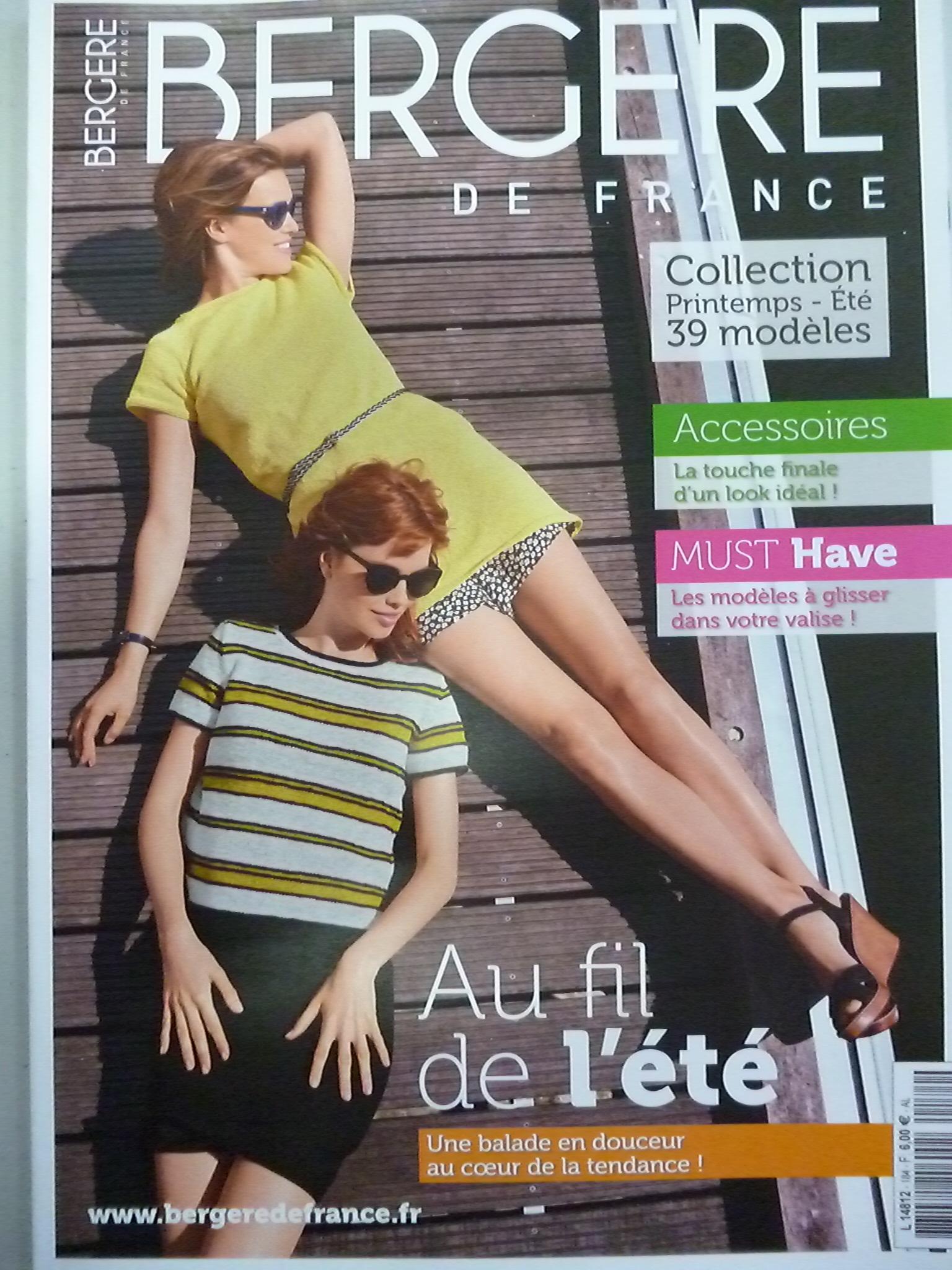 """Bergere De France Magazine Creations Aw15 16: Catalogue Bergère De France N°184 """"Femme-Homme"""" Printemps"""