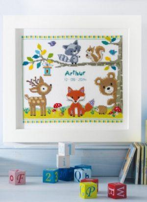 Kit tableau Animaux de la Forêt pour Bébé