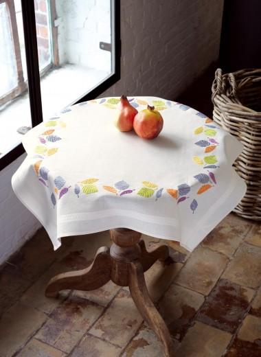 kit nappe broder feuilles de vervaco. Black Bedroom Furniture Sets. Home Design Ideas