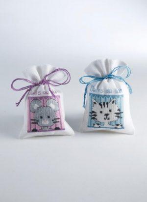 Kit sachets pour dents de lait à broder