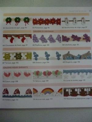 Galons et bordures au crochet Editions Fleurus