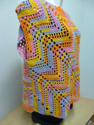 pull sans manches en Bari coloris multicolore