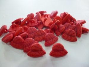 Bouton » Chapeau Rouge » 15 Mm