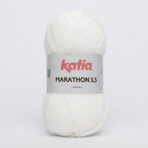 MARATHON 3.5 N° 01 de KATIA pelote 50 g coloris Blanc