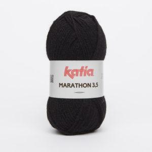MARATHON 3.5 N° 02 de KATIA pelote 50 g coloris Noir