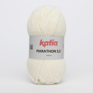MARATHON 3.5 N° 03 de KATIA pelote 50 g coloris Écru