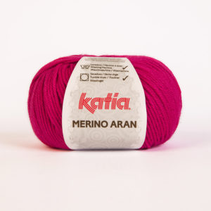 Merino Aran N°52 de KATIA pelote de 100 g coloris Fuchsia