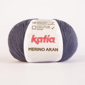 Merino Aran N°58 de KATIA pelote de 100 g coloris Bleu Jeans