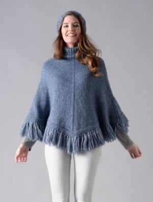 KIT Poncho Prêt à être tricoté Taille 34/36