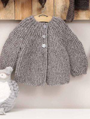 KIT Cardigan Prêt à être tricoté Taille 12 à 18 Mois