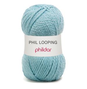 Looping de Phildar coloris Glaçon