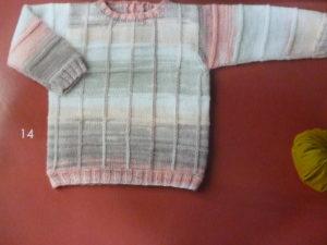 KIT Complet Pull Layette en 3 Mois Prêt à être tricoté