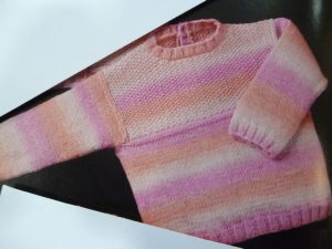 KIT Complet Pull Layette de 24 Mois Prêt à être tricoté