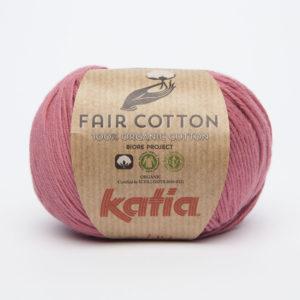 FAIR COTTON KATIA Coloris N°14 Rouge Framboise