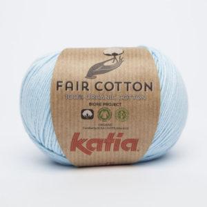 FAIR COTTON KATIA Coloris N°08 Bleu Ciel