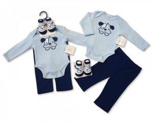Ensemble: Body,Pantalon,Chaussettes Coloris: Bleu