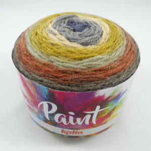 PAINT N°53 de KATIA pelote de 150 g coloris Multicolore