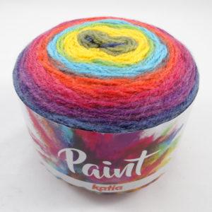 PAINT N°55 de KATIA pelote de 150 g coloris Multicolore
