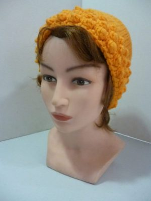 bonnet au crochet My Boshi coloris abricot