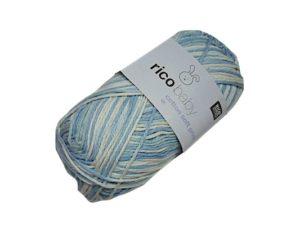 LOT 8 Pelotes Baby Cotton Soft Print de Rico Design N°002