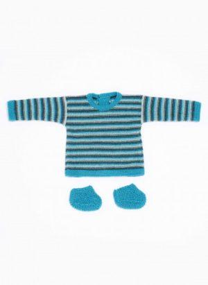 Kit brassière et chaussons Bleu