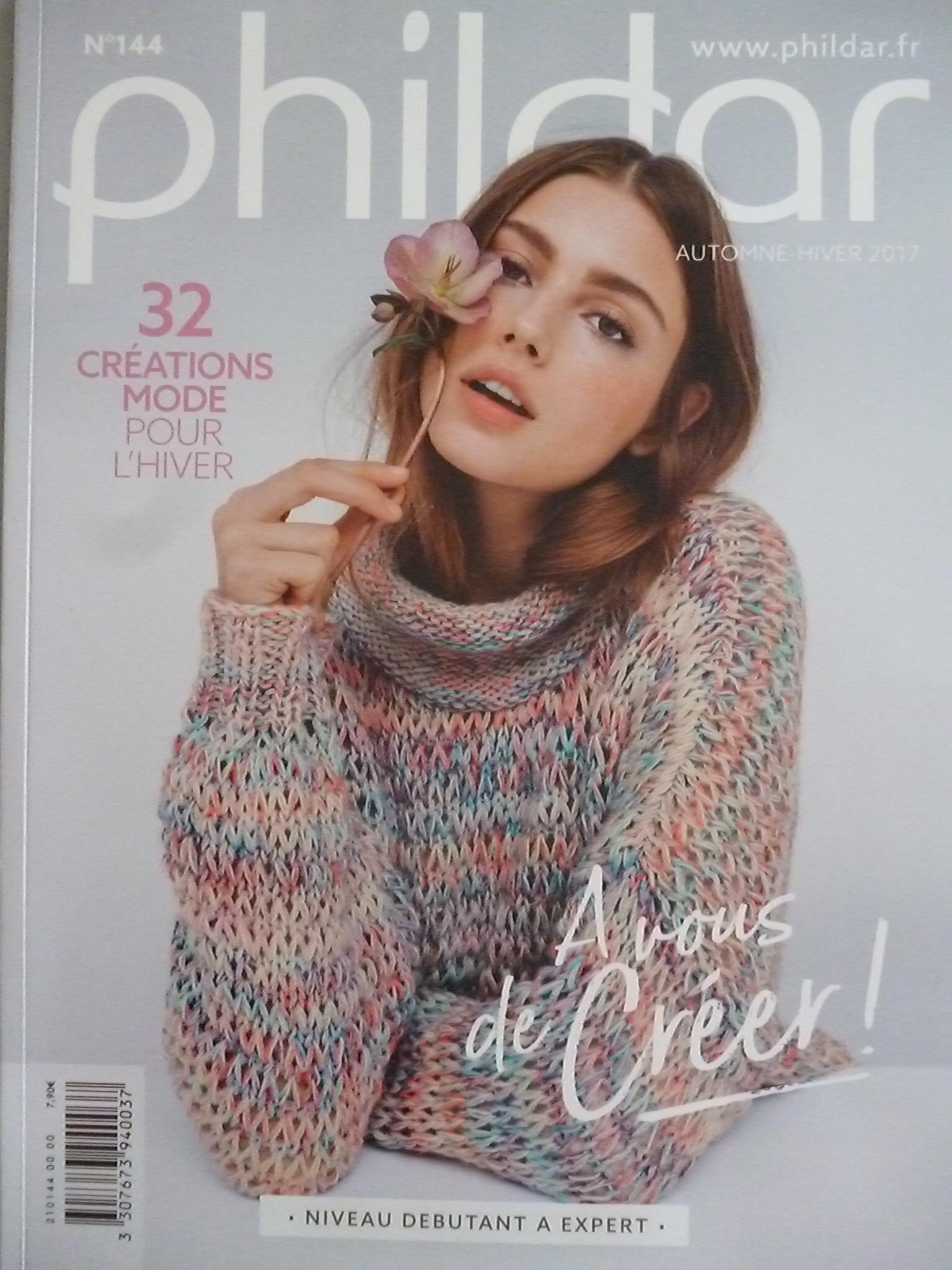Phildar N°144 Femme \u2013 32 Modèles Mode pour Automne,Hiver 2017/18