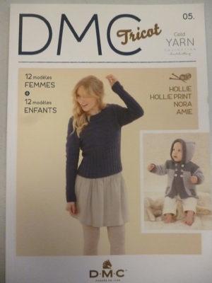 D.M.C «Tricot N°05» Modèles Femmes et Enfants